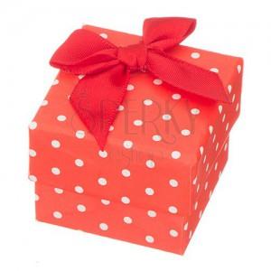 Geschenkbox rot weib