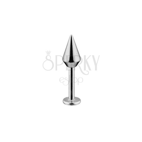 Labret-Piercing - breiterer glatter Kegel, 316L Edelstahl, Breite 1,6 mm