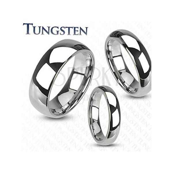 Hochglanzpolierter Hochzeitsring aus Tungsten