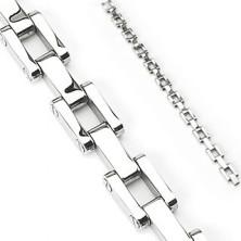 Armband aus Chirurgenstahl - rechteckige Glieder