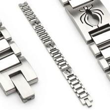 Armband aus Edelstahl in Uhrenoptik - Motiv Spinne