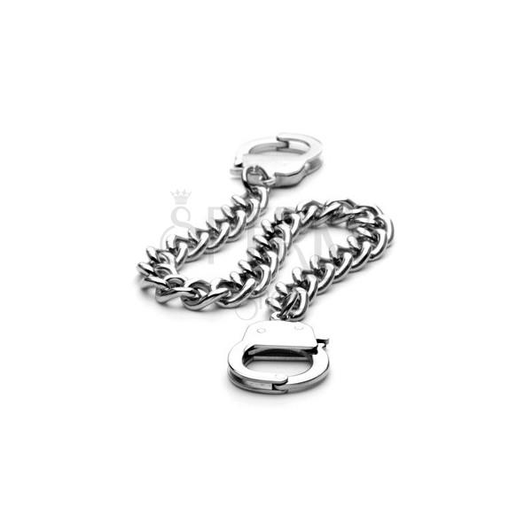 Armkette aus Edelstahl - große Glieder und Handschellen