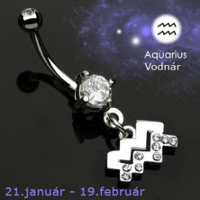 Zodiac belly button ring - Wassermann