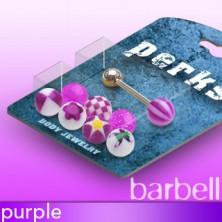 Zungenpiercingset mit candy Köpfen