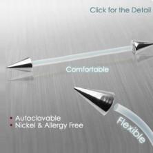 Flexibler Piercing mit Zacken