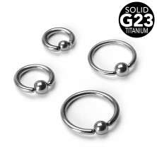 Titanpiercing - Ring mit Kügelchen, Breite 1,6 mm