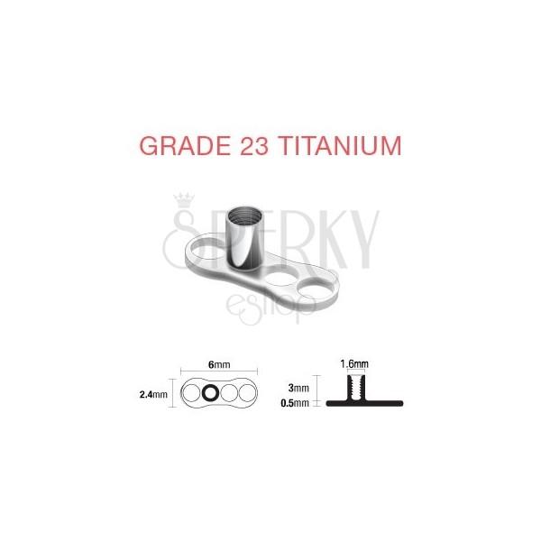 Titangestell unter Piercingimplantat - 3 Löcher