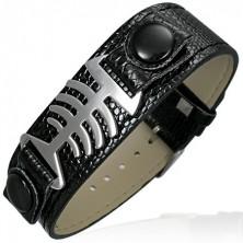 Armband in Schlangenlederoptik - Fishbone
