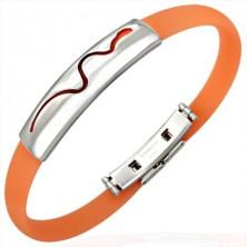 Gummi Armband dekoriert mit Platte und Schlange