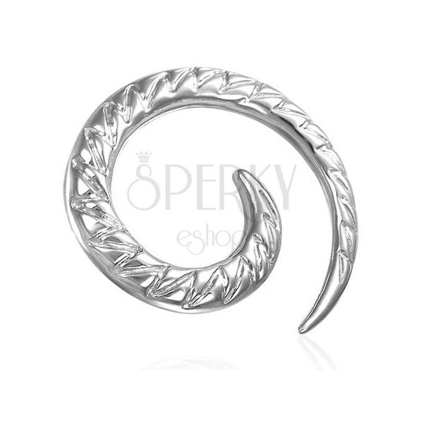 Ohrexpander- eine Spirale mit Zick-Zack Muster