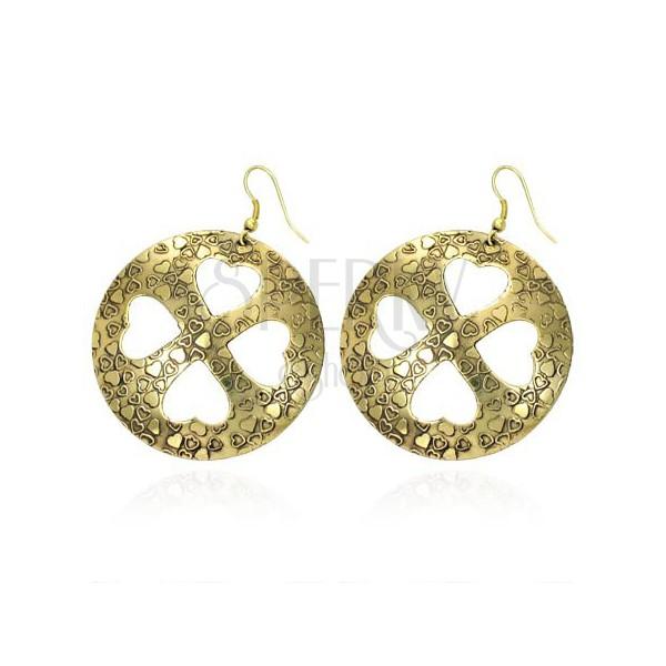 Ohrringe - Glücksklee aus Herzen