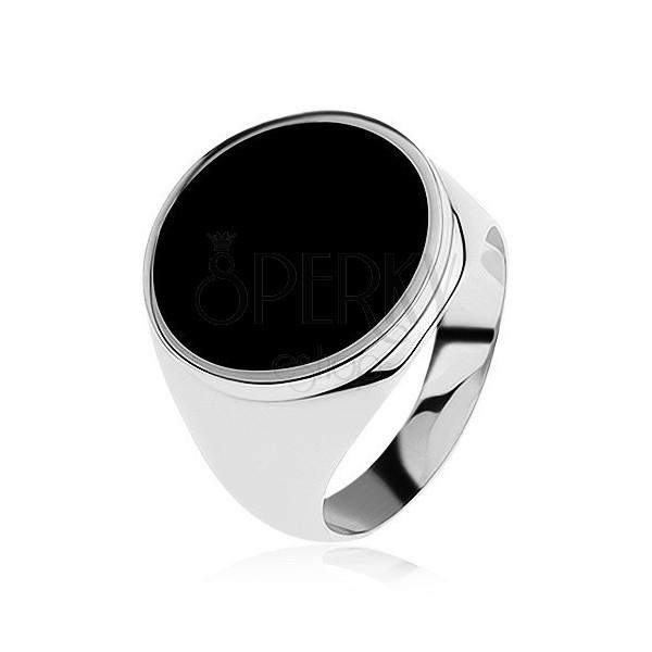ring aus 925 silber glatt und gl nzend kreis mit. Black Bedroom Furniture Sets. Home Design Ideas