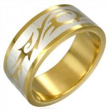 Ring mit TRIBALSYMBOL in goldener Farbe