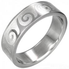 Ring aus Edelstahl mit Wellenmotiv