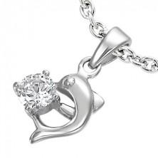 Stahlanhänger - Delphin