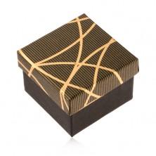 Schmuckkästchen für Ring, schwarz-goldene Farbe, glänzende ...