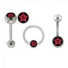 """Piercingset - Logo """"Roter Star"""""""