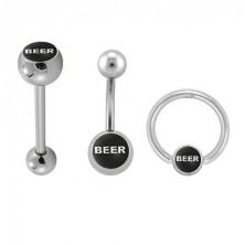 Piercing Schmuck-Set - BEER Logo