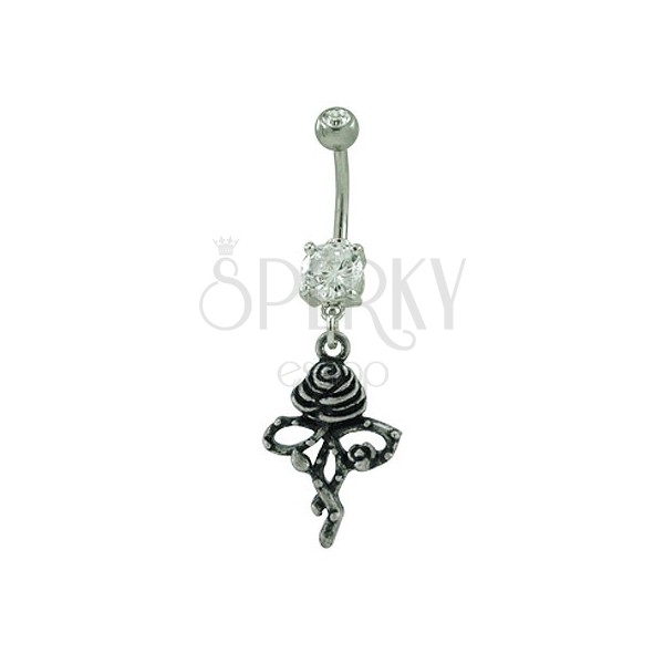 Belly button ring - Rose