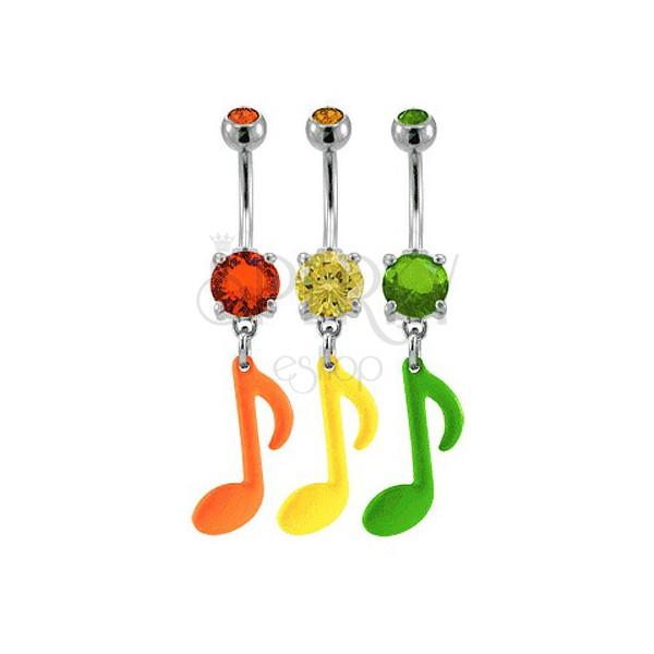 Bunter Piercing in Neonfarben