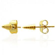 Ohrstecker aus Chirurgenstahl - goldene Zacken