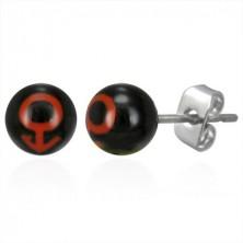 Ohrringe in Kugelform - männliches Symbol