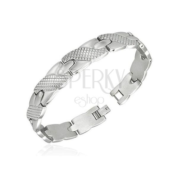 Silbernes Armband aus Stahl - Motiv Schleife