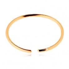 Nasenpiercing aus 14K Gelbgold - schmaler glänzender Ring mit glatter Oberfläche
