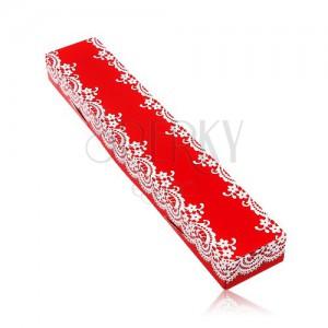 Geschenkschachtel in roter Farbe, für Kette oder Armkette, weiße Spitze