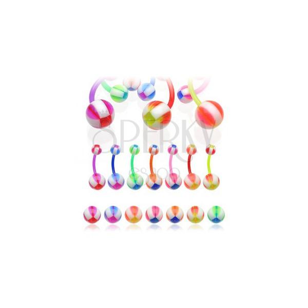 Nabelpiercing - Multicolor Balla