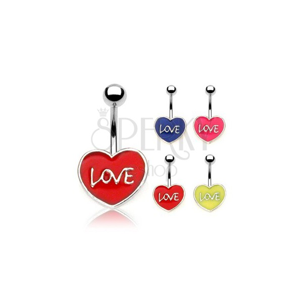 Nabelpiercing LOVE