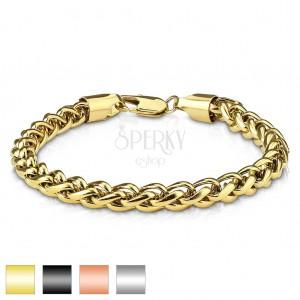 Armband aus 316L Stahl, dicht angebundene ovale Glieder, diverse Farben