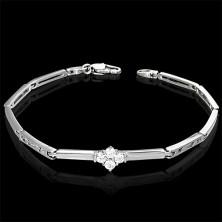 Armband für Damen verziert mit 4 Zirkonia