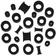 Silikon Ohr Tunnel – schwarz, flexibel, verschiedene Größen
