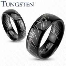 Tungstenring - schlichter Trauring in Schwarz, Herr der Ringe, 6 mm