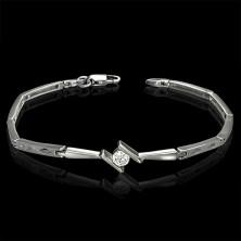 Elegantes Damenarmband mit Zirkonia und Rauten
