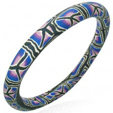 FIMO Armband mit Stamm-Muster