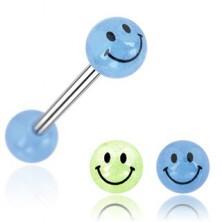 Zungenpiercing - Kugel, Lächeln
