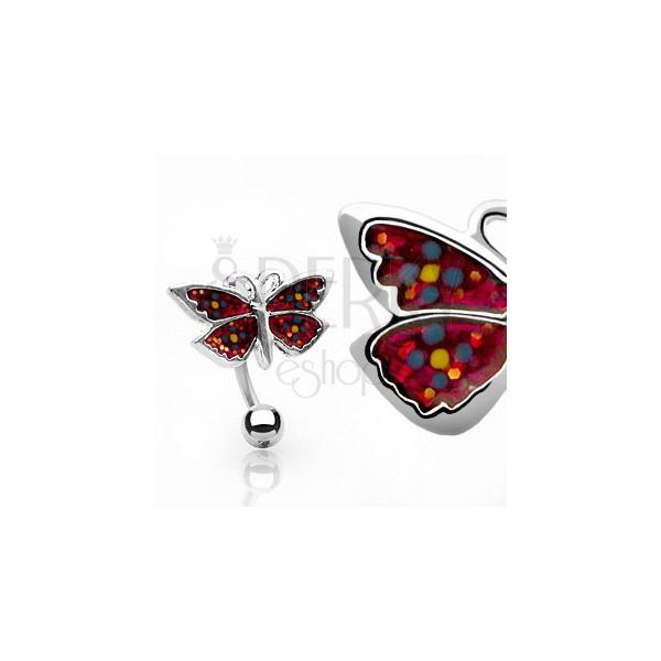 Nabelpiercing - blumiger Schmetterling