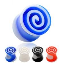 Ohrplug - bunte Spiralen