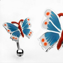 Nabelpiercing - bunter Schmetterling
