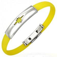 Gummiarmband mit Stern, gelb