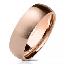 Ring aus Chirurgenstahl in kupferfarbener Ausführung, matte gewölbte Oberfläche, 6 mm