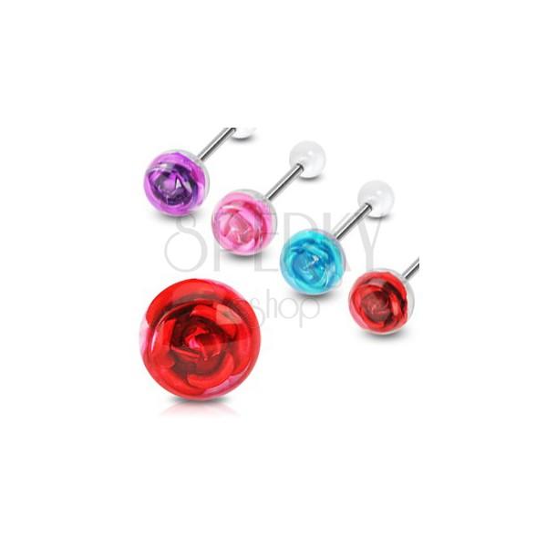 Zungenpiercing - Rose