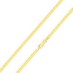 Armband aus 585 Gold – reihenweise verbundene Glieder, 200 mm
