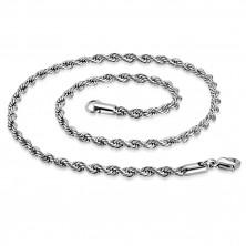 Spiralenförmige Kette aus Stahl, silberfarben, ovale Glieder, 450 mm