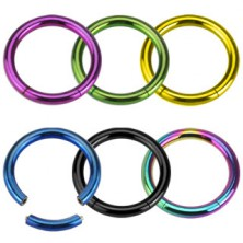 316L Stahl Piercing - einfacher glänzender Kreis mit Titanoberfläche