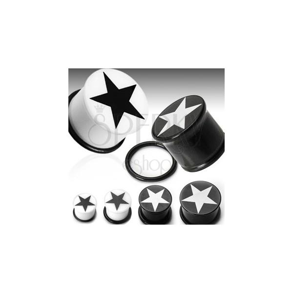 Ohrplug mit einem Sternsymbol