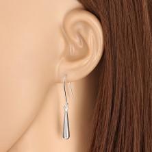 Hängende Ohrringe - Tropfen mit glänzender Oberfläche, 925 Silber