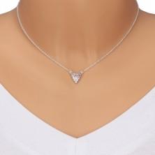 925 Silber Halskette - Traubenbüschel an Kette, Zirkone, Farbverlauf